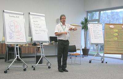Jürgen Burberg im Training